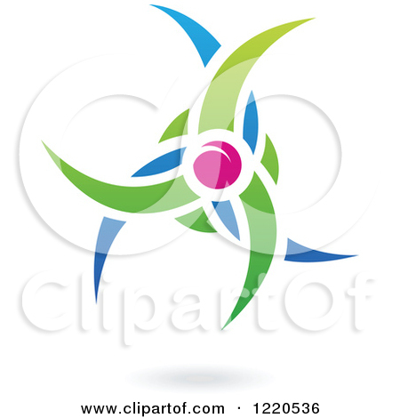 Clipart of a Floating Plum Fruit and Leaf Icon.