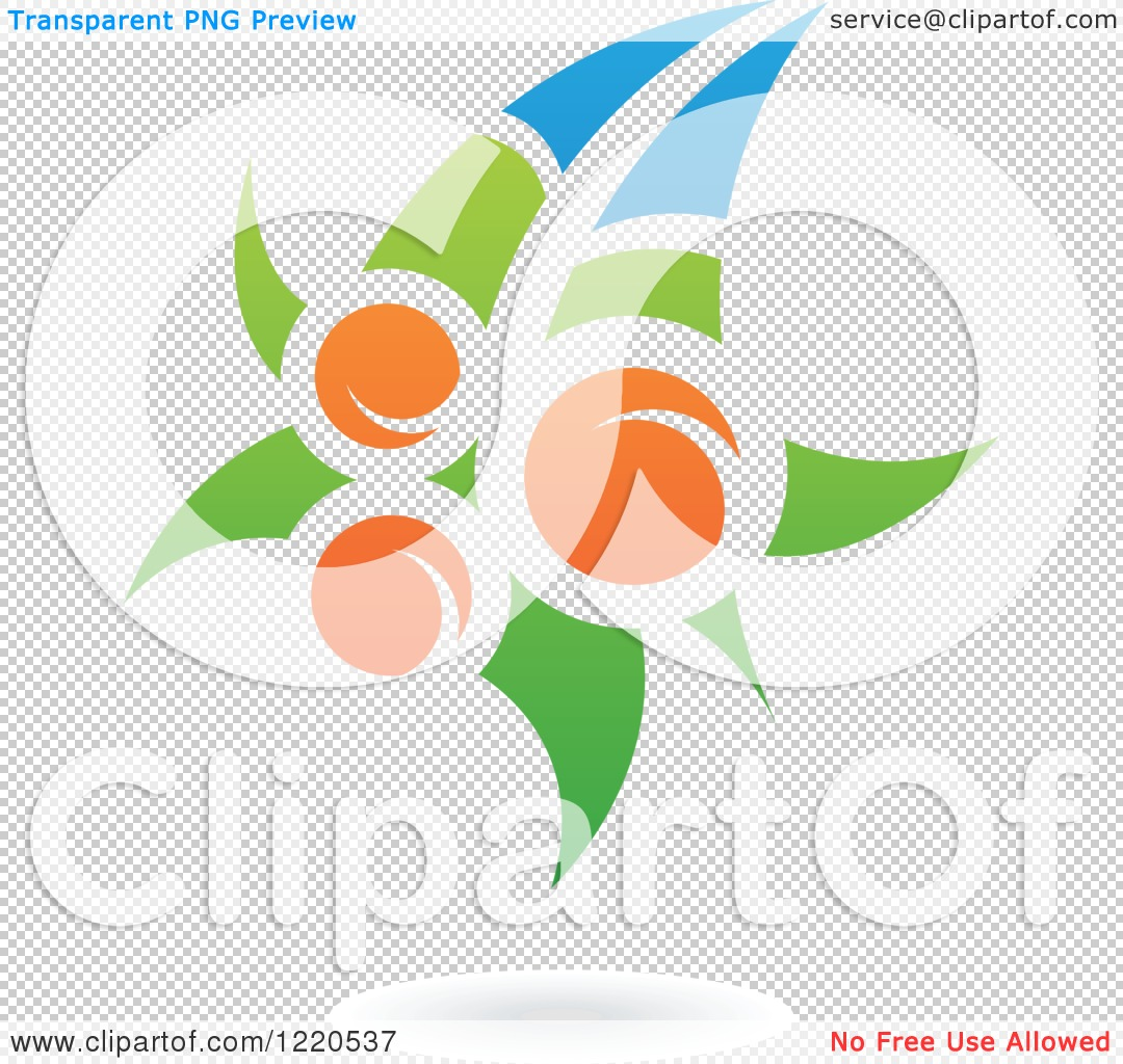 Clipart of a Floating Orange Fruit and Leaf Icon 2.