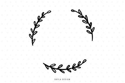 Amazon.com: Pene Wreath Decal Sticker Clip Art Leaves Decal.