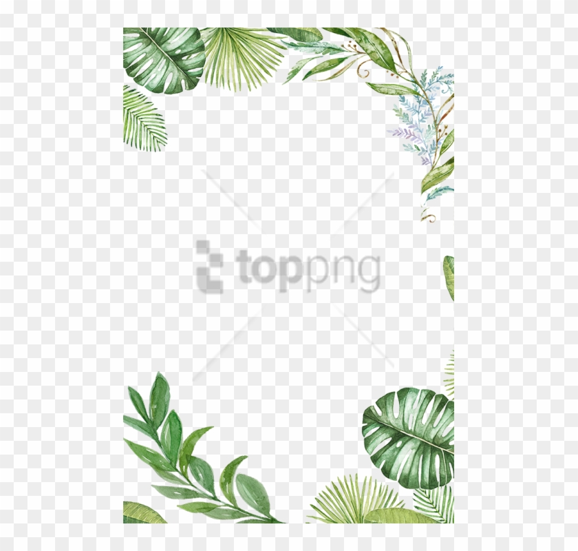 Free Png Tropical Leaves Frame Png Image With Transparent.