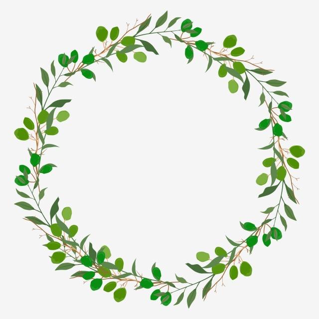 Circular Leaf Frame, Frame, Leaf, Circular PNG and Vector.