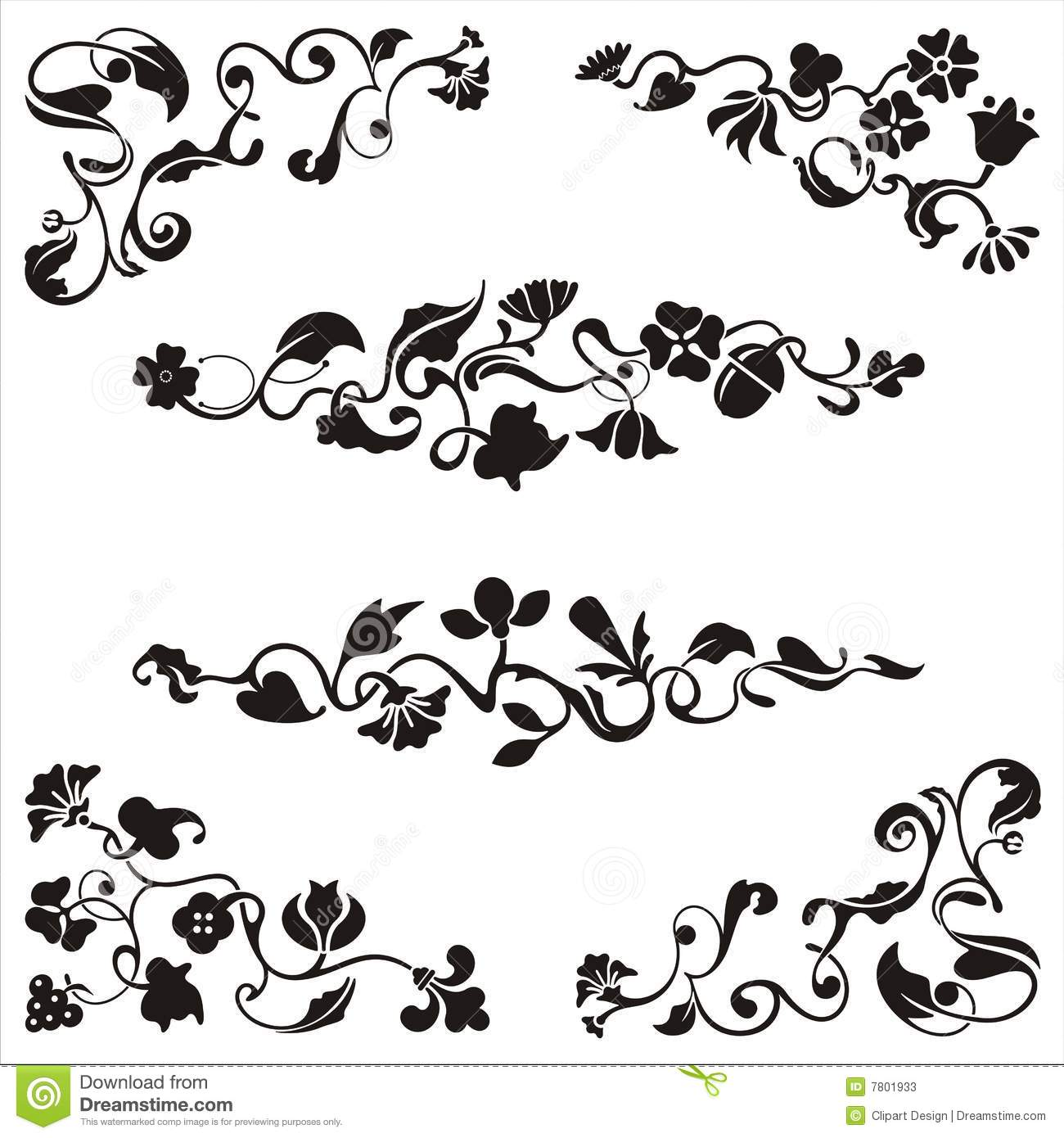 Ornamental Frieze Designs Stock Photos.