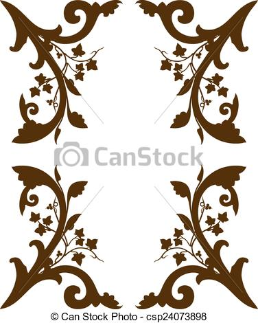 EPS Vectors of Brown frieze decoration.