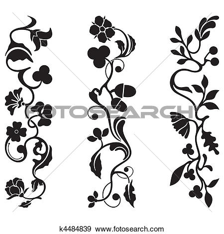 Clip Art of Classic Frieze Design k4484839.