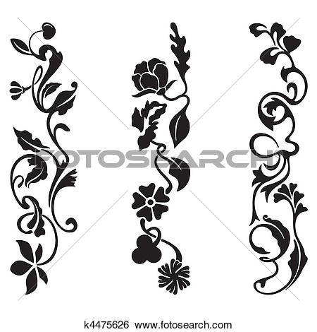 Clip Art of Classic Frieze Design k4475626.