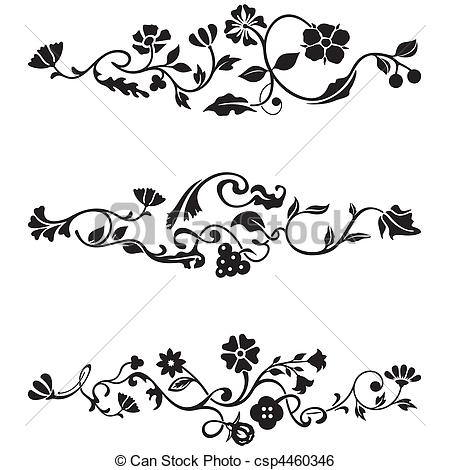 Clip Art Vector of Classic Frieze Design csp4460346.