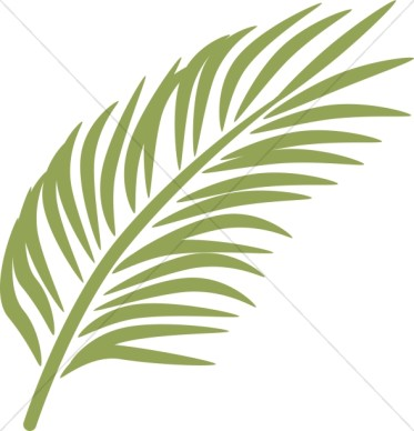 Palm leaves clip art.