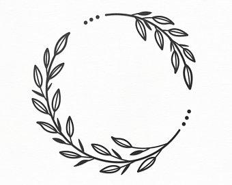 Leaf wreath.