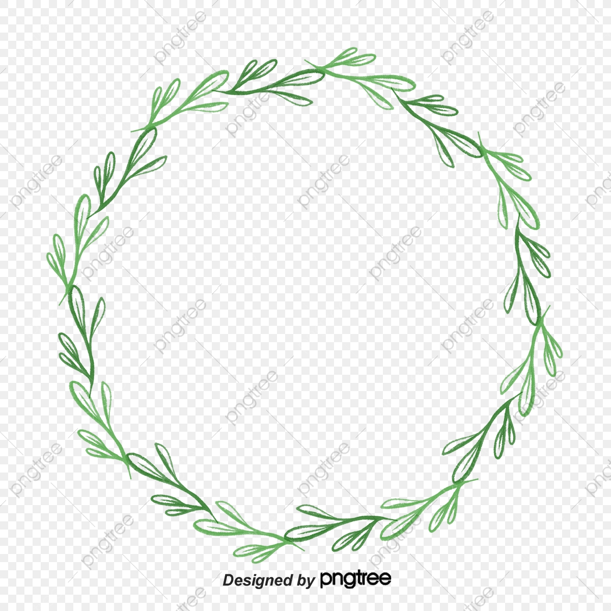 Green Leaf Garland, Green, Leaf, Wreath PNG Transparent.