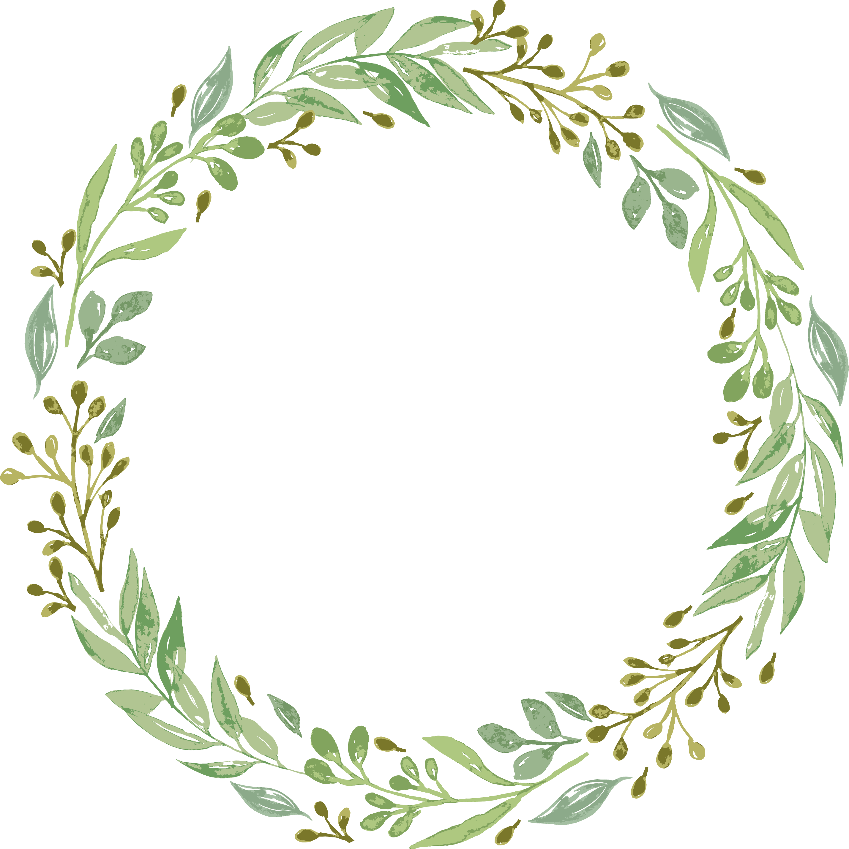 Download Vector Free Stock Leaf Garland Clipart.