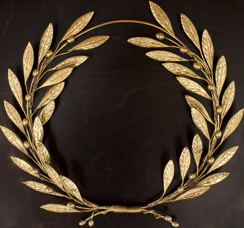 Bronze olive wreath olive branch wall sculpture, bronze wall art.