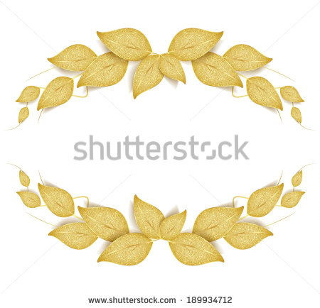 Gold Leaf Stock Photos, Royalty.