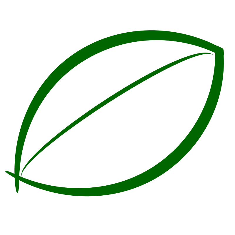 free vector Small Green Leaf Icon.