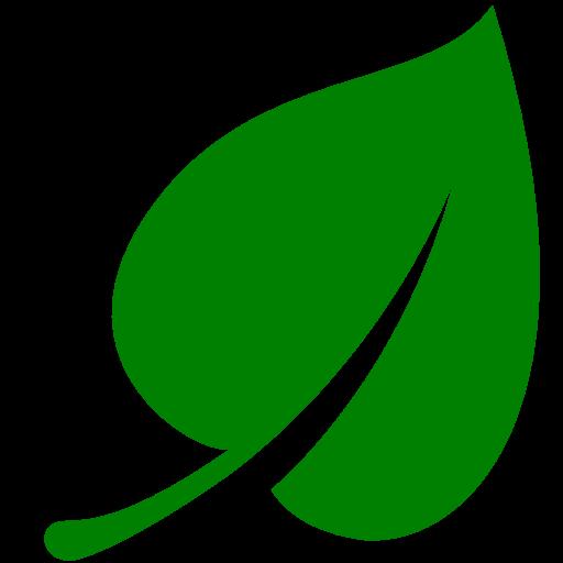 Green leaf icon.