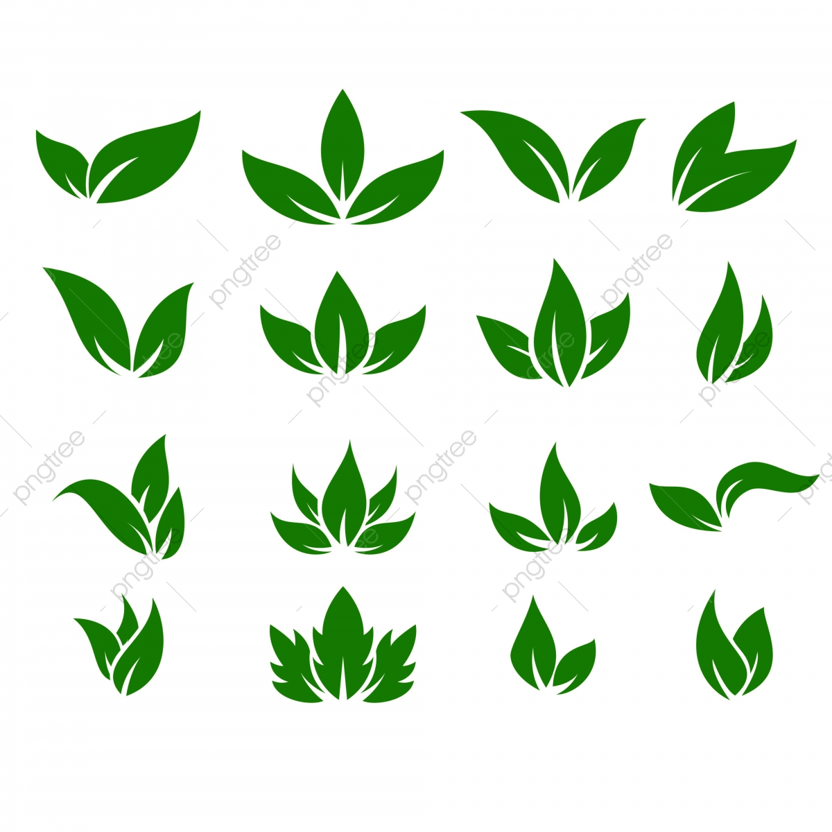 Leaf Icons Vector Design Leaves Green Concept Illustration.