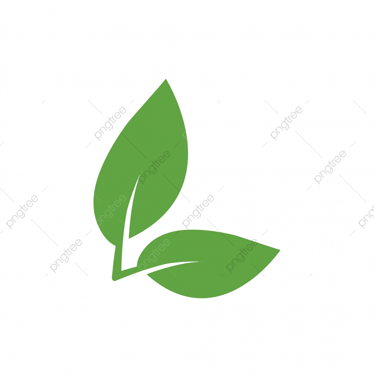 Green Leaf Icon Graphic Design Template Vector, Leaf, Icon.