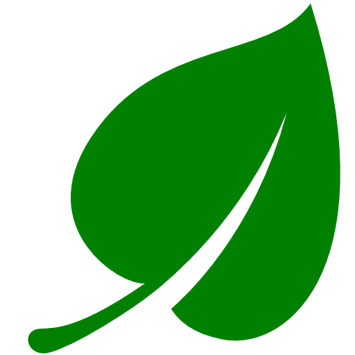 Green Leaf Icon #7058.