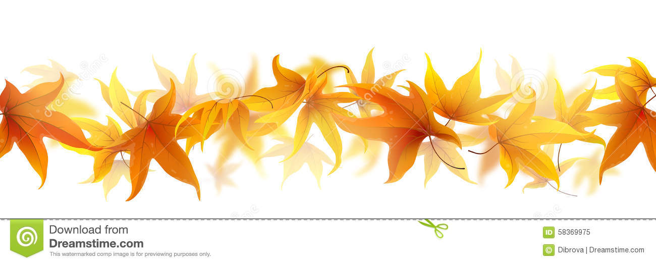 Line Of Leaves Clipart.