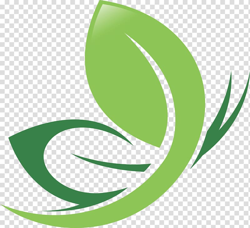Logo Icon, Green leaf logo design transparent background PNG.