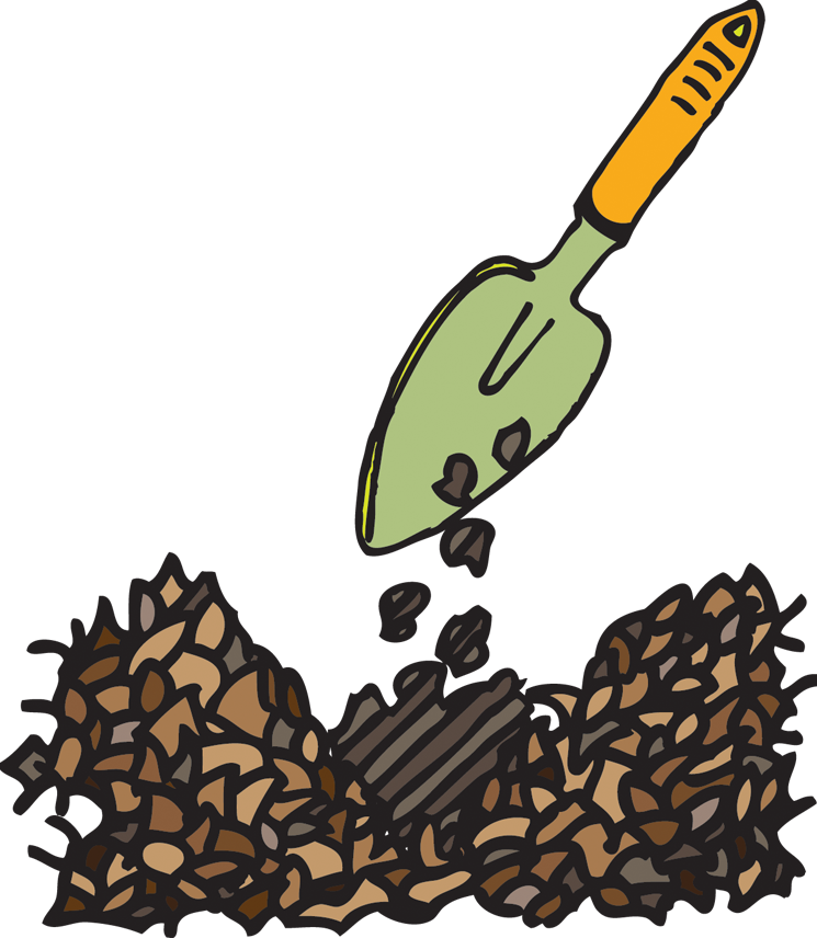 Grow vegetables easily using leaf compost mulch.