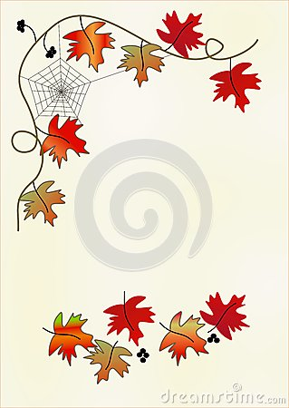 Clipart With Leaves Stock Vector.