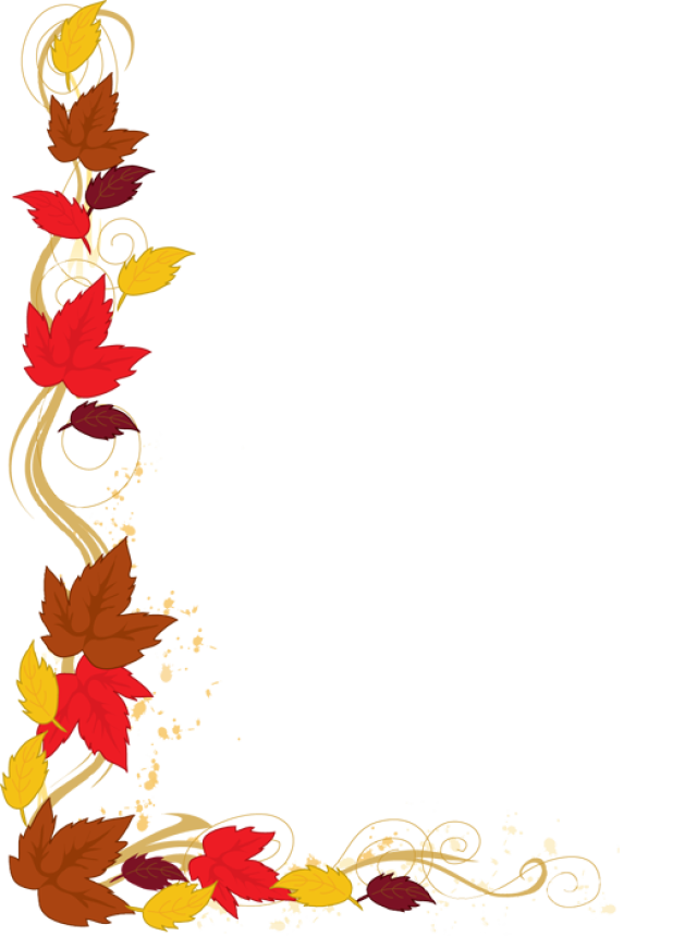 Autumn Leaf Border Clip Art.