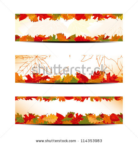 Leaf Header Banner Stock Photos, Royalty.