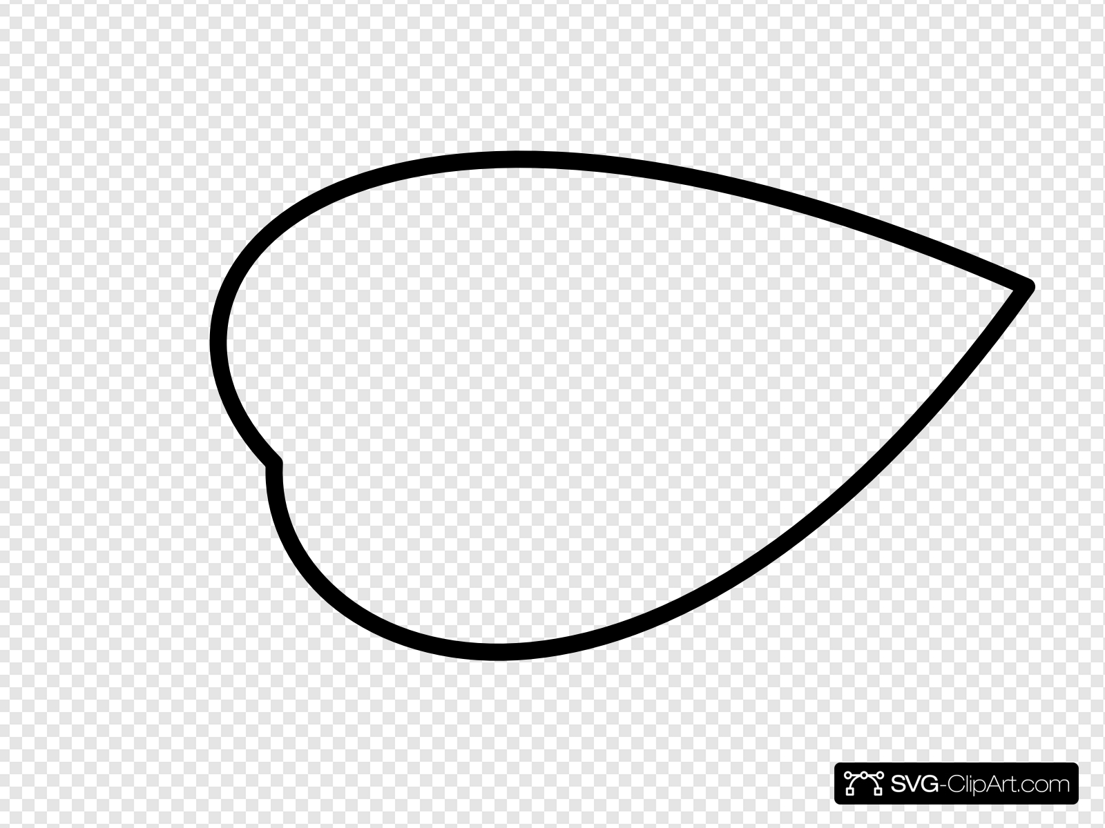 Leaf Outline Clip art, Icon and SVG.
