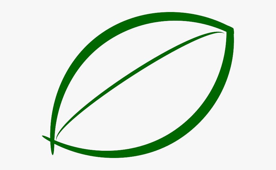 Green Leaf Outline Clipart #105927.