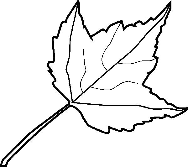 Leaf Outline Clipart.
