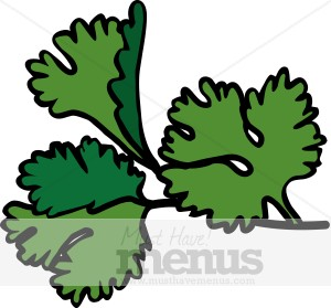 Cilantro Clipart Black And White.