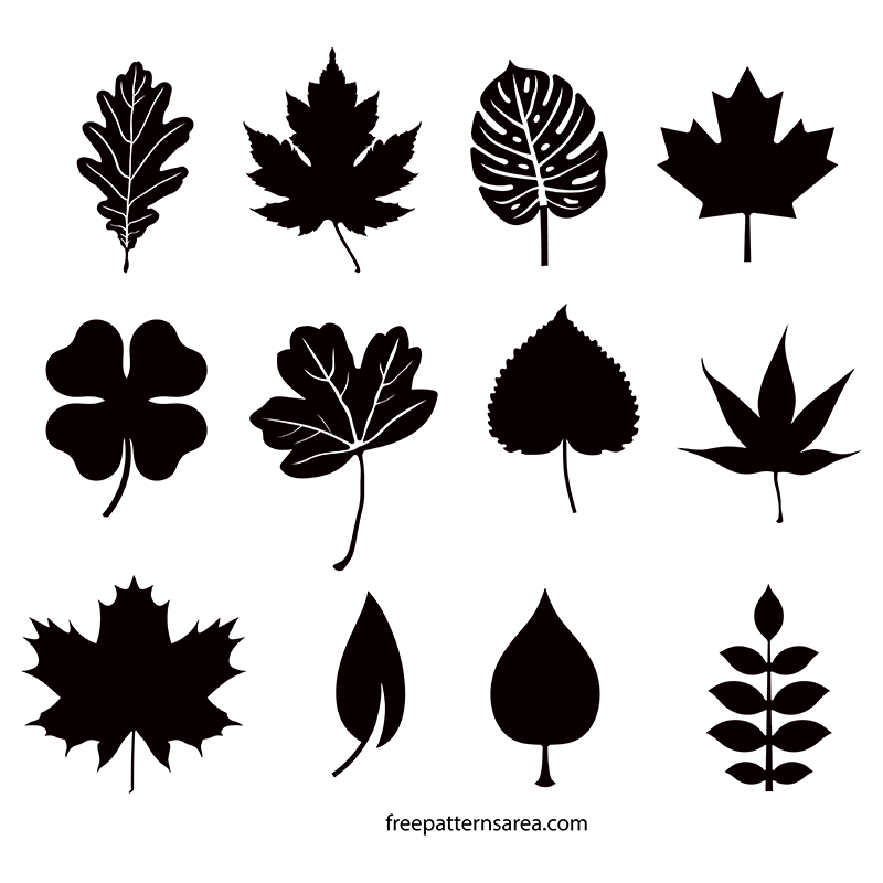 Leaf Silhouette Vectors and Templates.