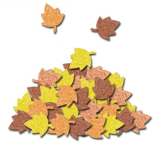 Pile Of Leaves Clipart.