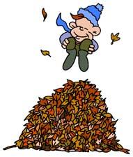 Leaf pile clip art.