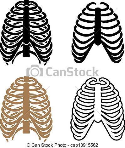 Clip Art Vector of vector human rib cage symbols csp13915562.