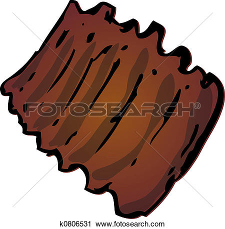 Clipart of Barbecued ribs k0806531.