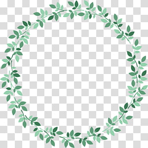 Green Leaf Ring transparent background PNG cliparts free.