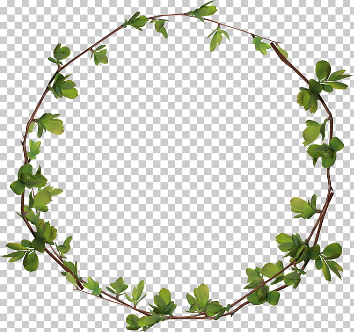 Circle , Leaves ring, leaf wreath illustration PNG clipart.