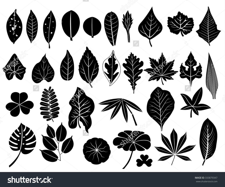 Leaf row silhouette clipart.