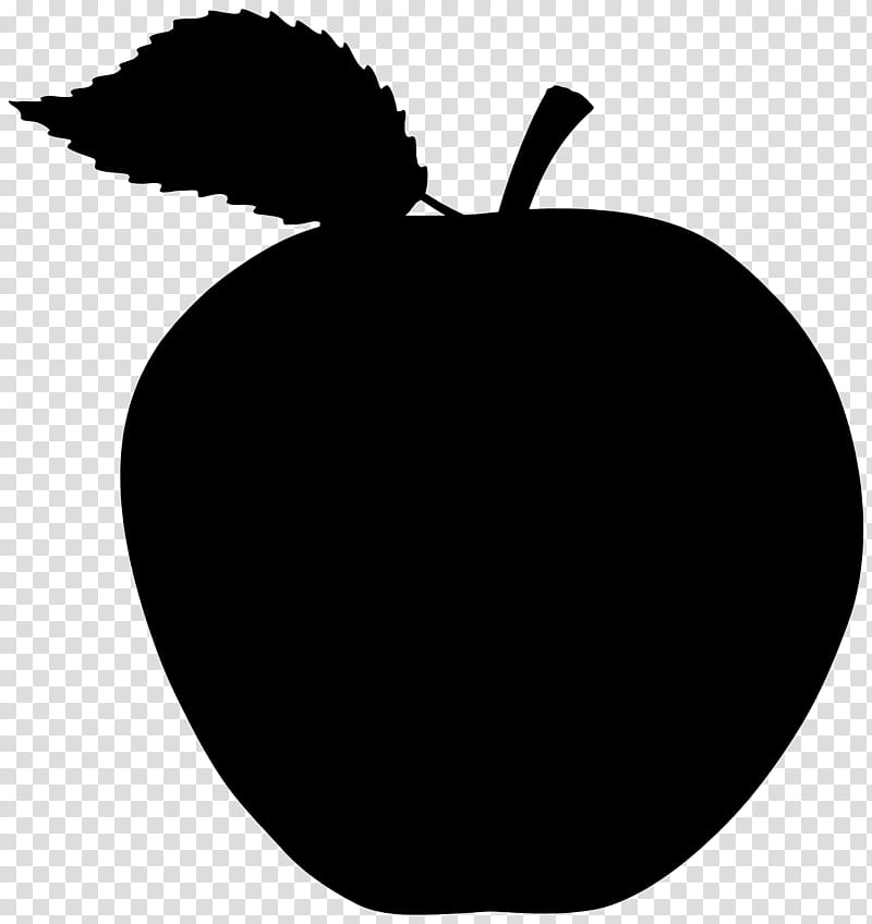 Black Apple Logo, Drawing, Shadow, Silhouette, Leaf, Fruit.