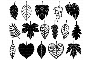 Leaf SvG, Leaves SVG files for Silhouette Cameo and Cricut. Nature svg..