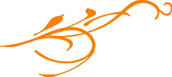 Orange Leaf Swirl Clip Art at Clker.com.