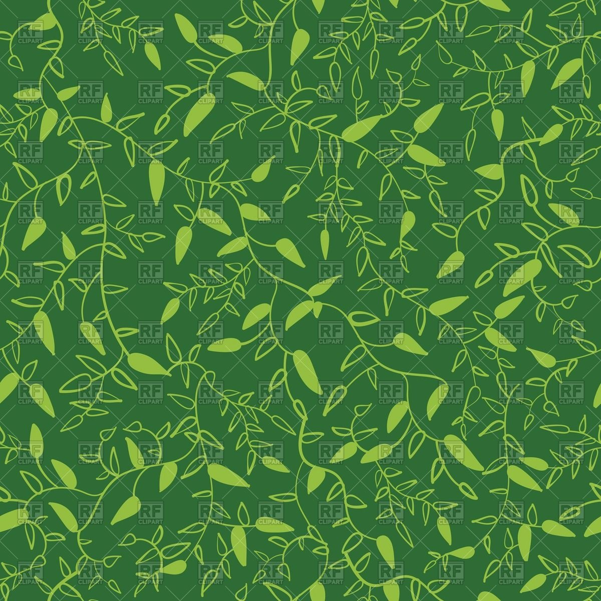 Herbal seamless pattern with leaves Vector Image #40324.