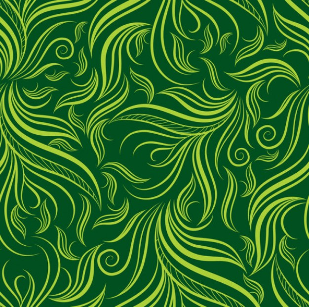 Abstract leaves seamless texture vector.