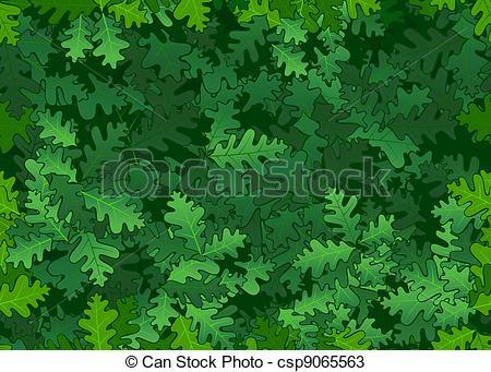 Vectors of Oak leaves seamless texture.