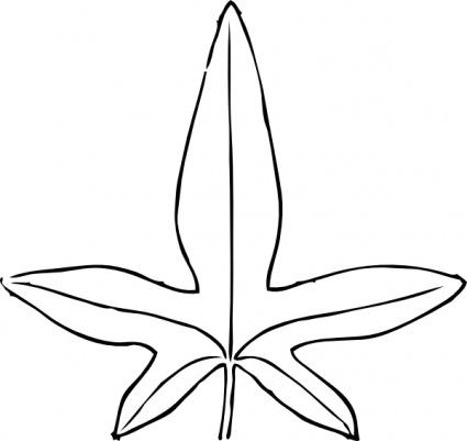 Leaf Line Art.