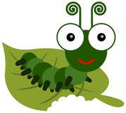 Caterpillar Cartoon Eating Leaf Stock Illustrations.
