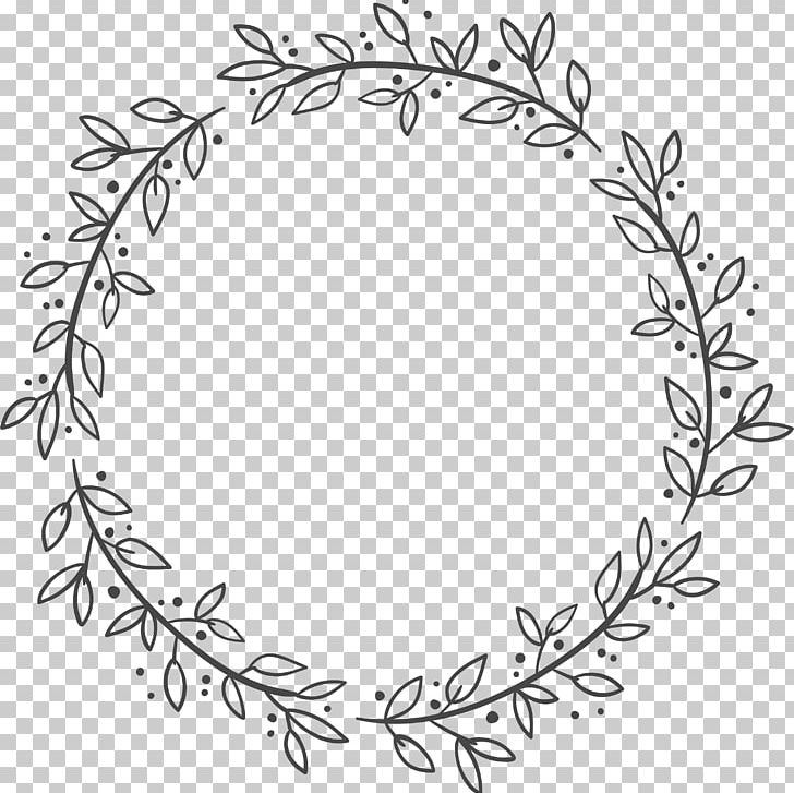Euclidean Leaf Wreath Flower PNG, Clipart, Black And Wh.