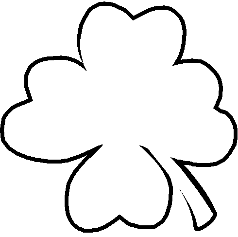Free Four Leafed Clover Clipart.
