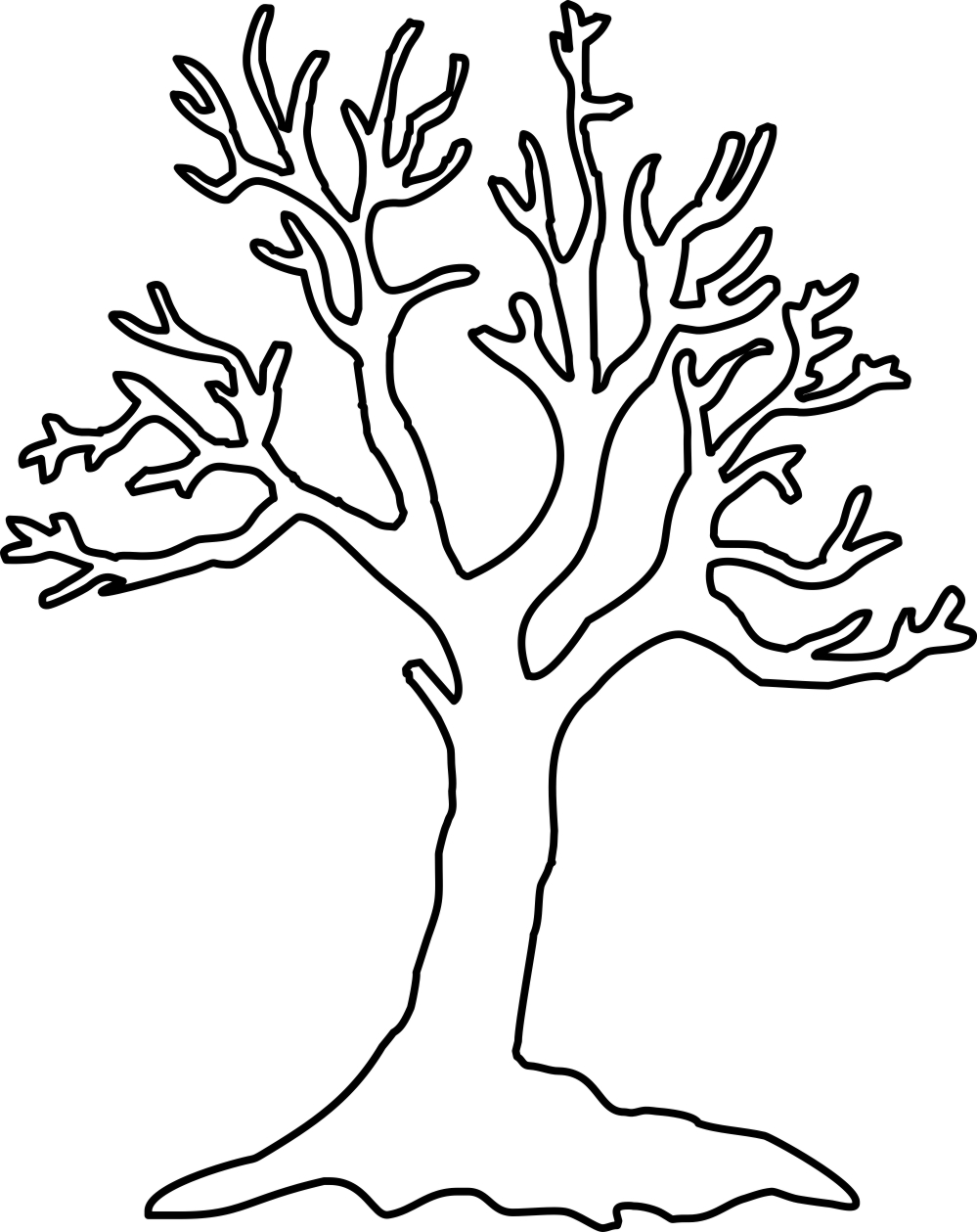 Tree Of Life Outline Clipart.